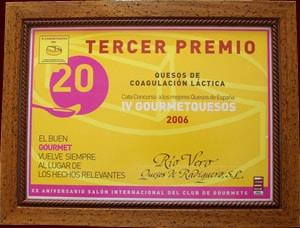 Tercer Premio Feria Gourmet 2006