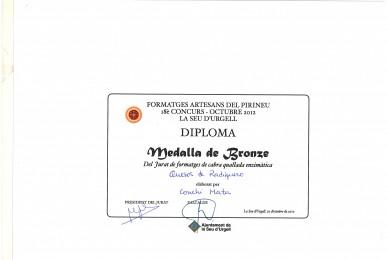 Medalla de Bronce, Fira de Sant Ermengo 2012