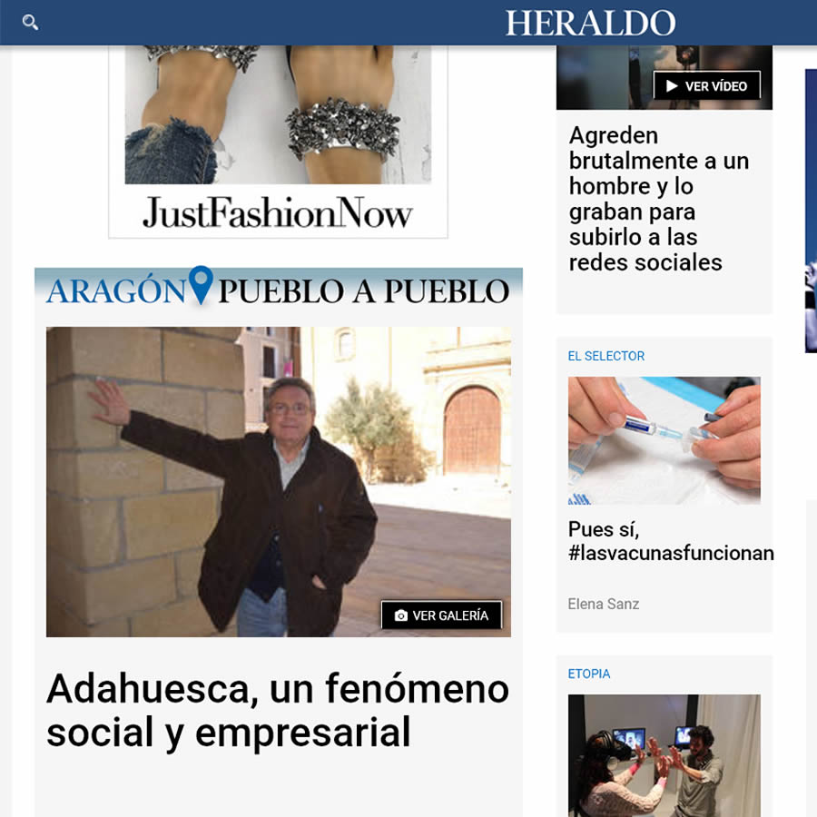 Heraldo de Aragon sobre Adahuesca y Quesos de Radiquero