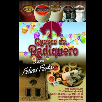 Anuncio para el programa de Fiestas Adahuesca 2018 de Quesos de Radiquero