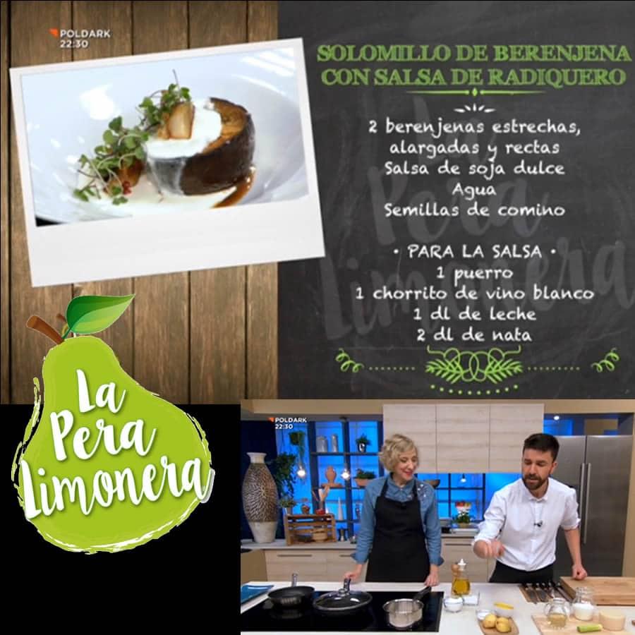 Ingredientes del Solomillo de berenejena con salsa Radiquero