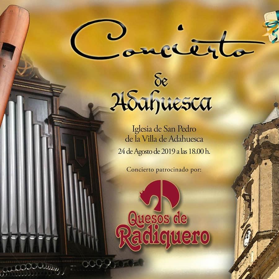Agenda de Agosto de 2019. El broche final es el concierto en Adahuesca de órgano y flauta
