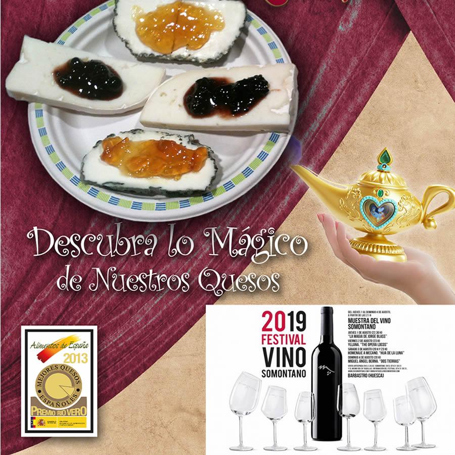 Quesos de Radiquero ha preparado diferentes tapas para el Festival Vino de Somontano