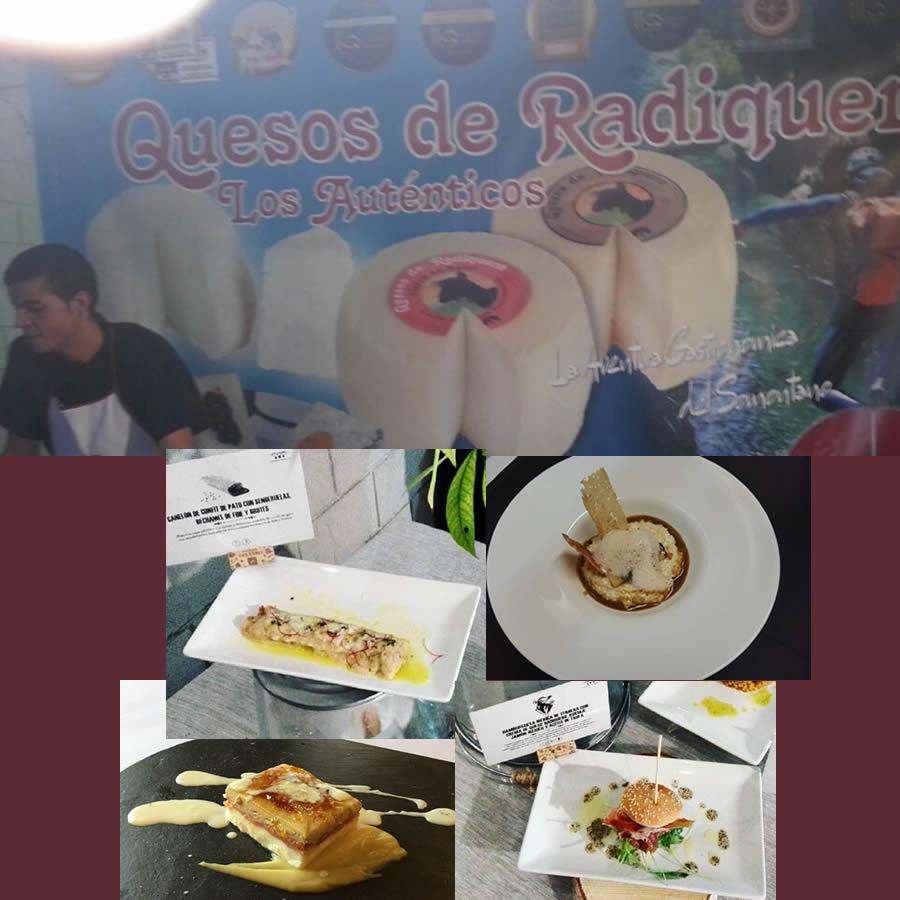 Varias Tapas Con Quesos de Radiquero en el Festival del Vino del Somontano.