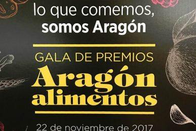 Quesos de Radiquero en la Gala de Premios Aragon Alimentos