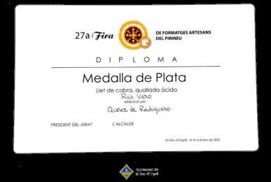 Premio medalla de plata al Río Vero en la Fira de Sant Ermengol en la Seu d´Urgell